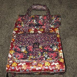 DR. MARTENS Leather floral backpack
